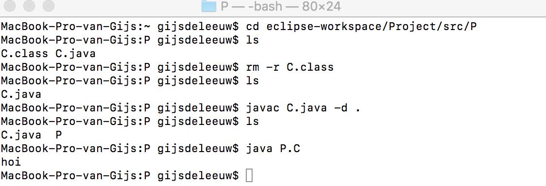 java compile problem terminal